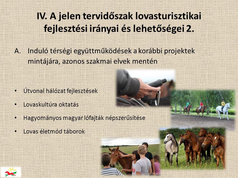 IV. A jelen tervidőszak lovasturisztikai fejlesztési irányai és lehetőségei 2.