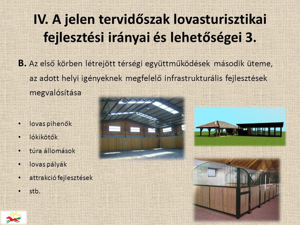 IV. A jelen tervidőszak lovasturisztikai fejlesztési irányai és lehetőségei 3.