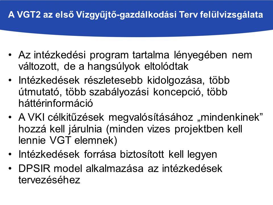 A VGT2 az első Vízgyűjtő-gazdálkodási Terv felülvizsgálata