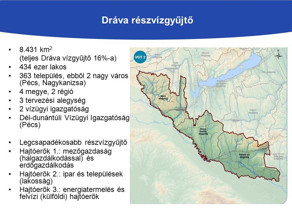 Dráva részvízgyűjtő 8.431 km2 (teljes Dráva vízgyűjtő 16%-a)