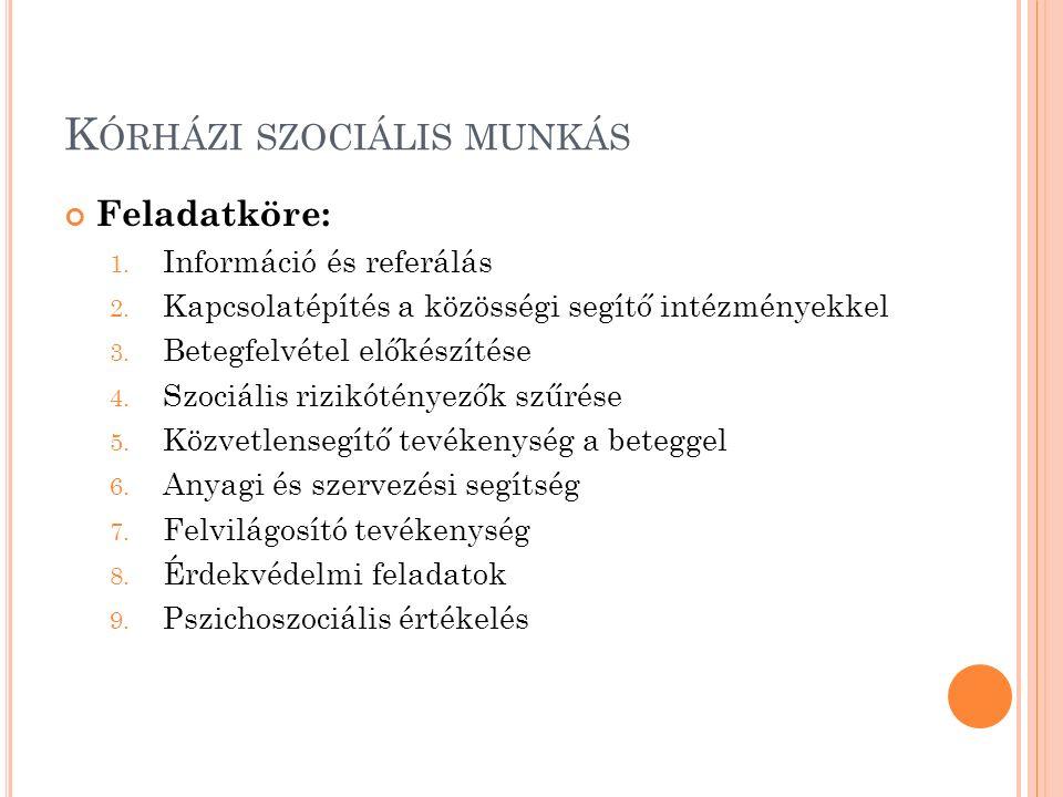 Kórházi szociális munkás