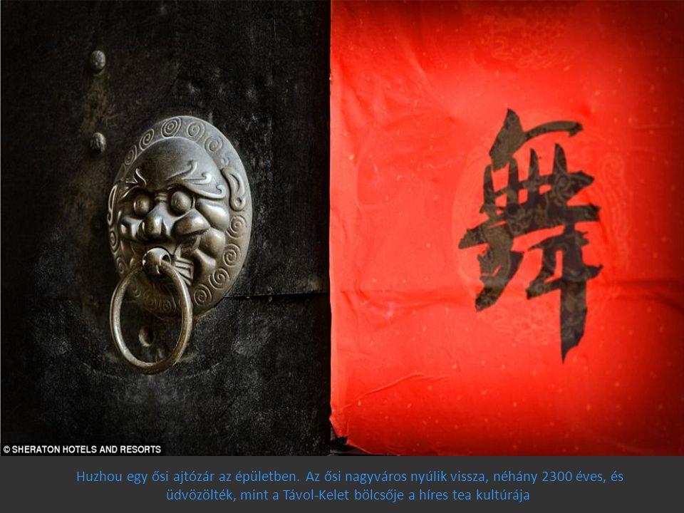 Huzhou egy ősi ajtózár az épületben