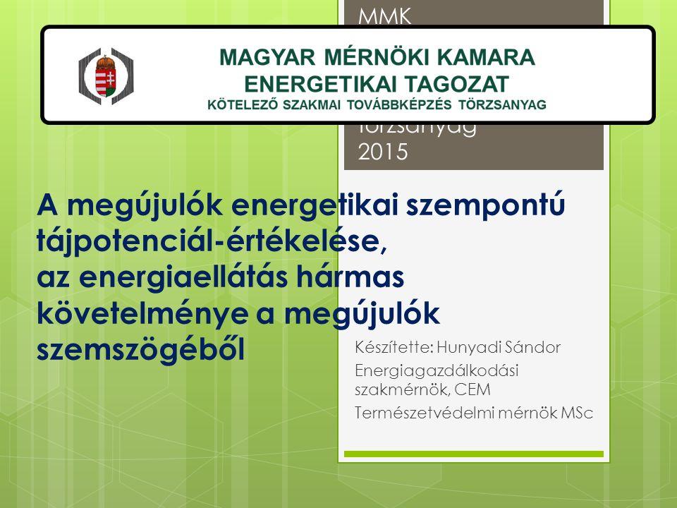MMK szakmai továbbképzés törzsanyag 2015