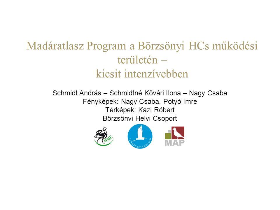Madáratlasz Program a Börzsönyi HCs működési területén –