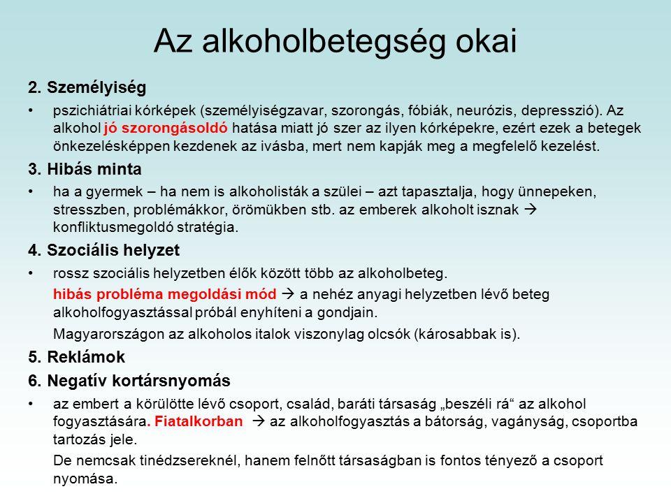 Az alkoholbetegség okai