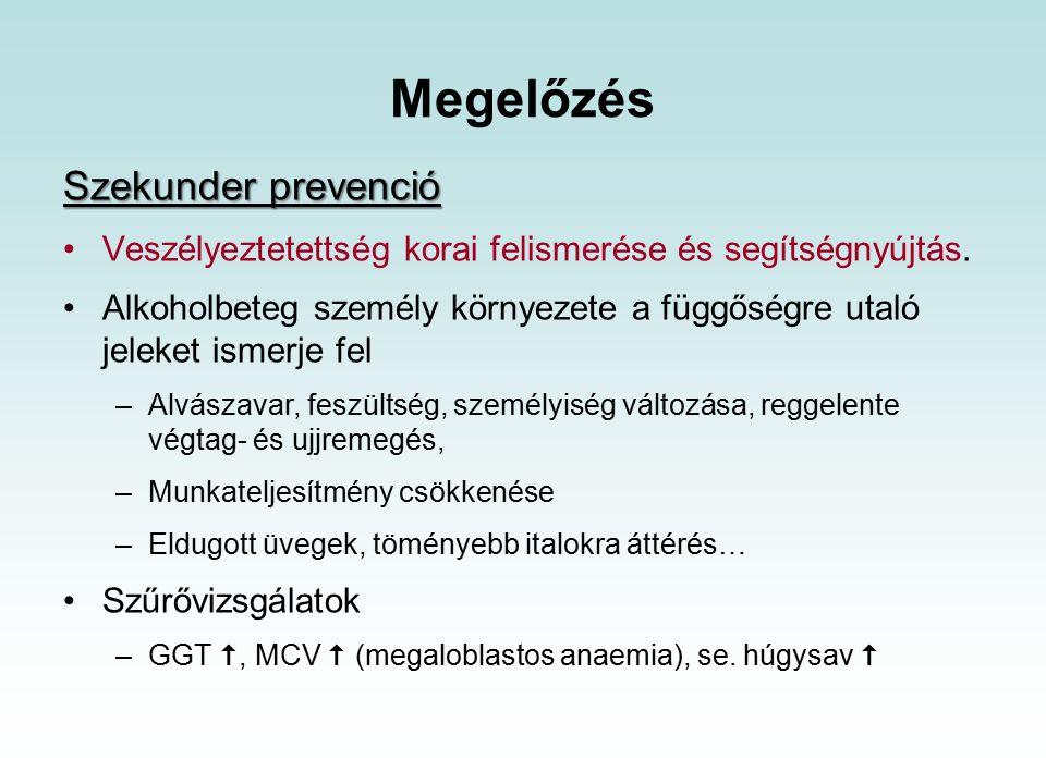 Megelőzés Szekunder prevenció