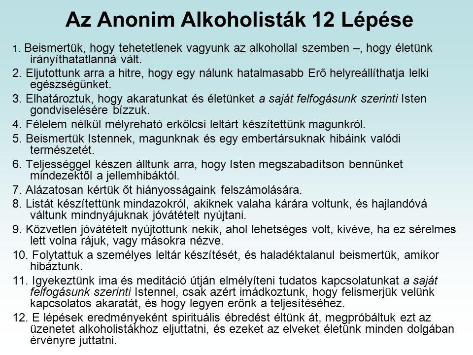Az Anonim Alkoholisták 12 Lépése