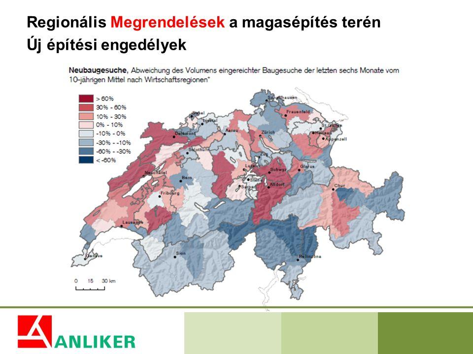 Regionális Megrendelések a magasépítés terén Új építési engedélyek