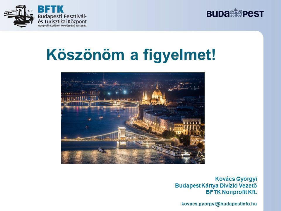 Köszönöm a figyelmet! Kovács Györgyi Budapest Kártya Divízió Vezető