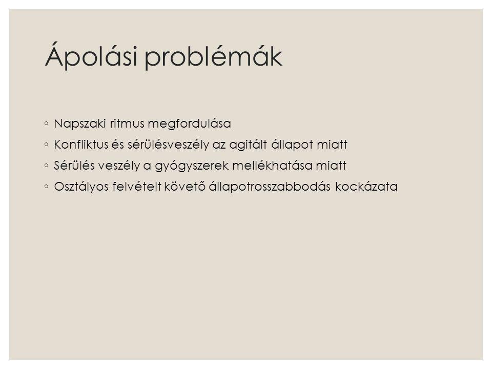 Ápolási problémák Napszaki ritmus megfordulása