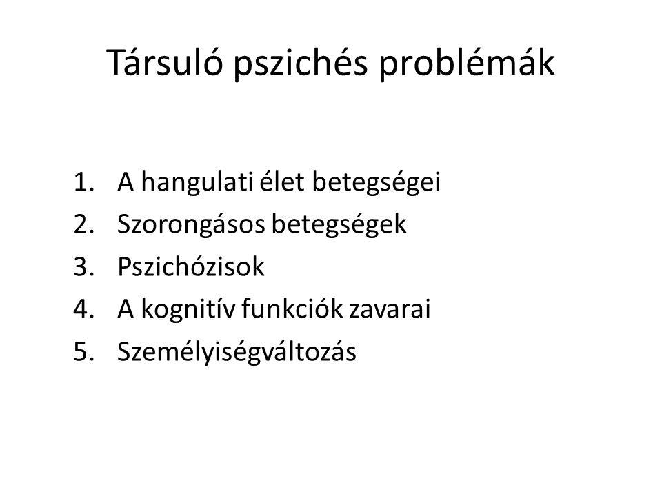 Társuló pszichés problémák