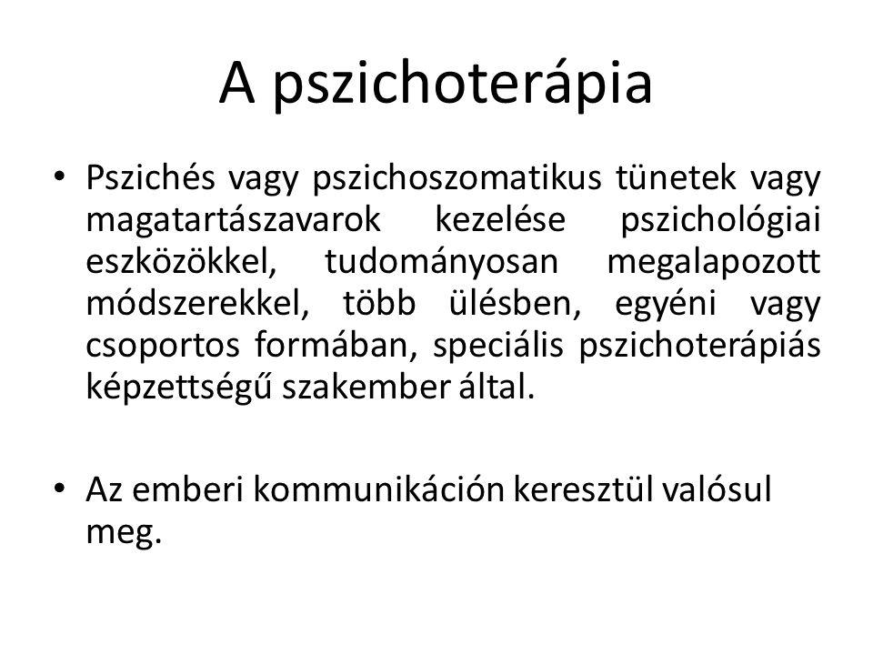 A pszichoterápia