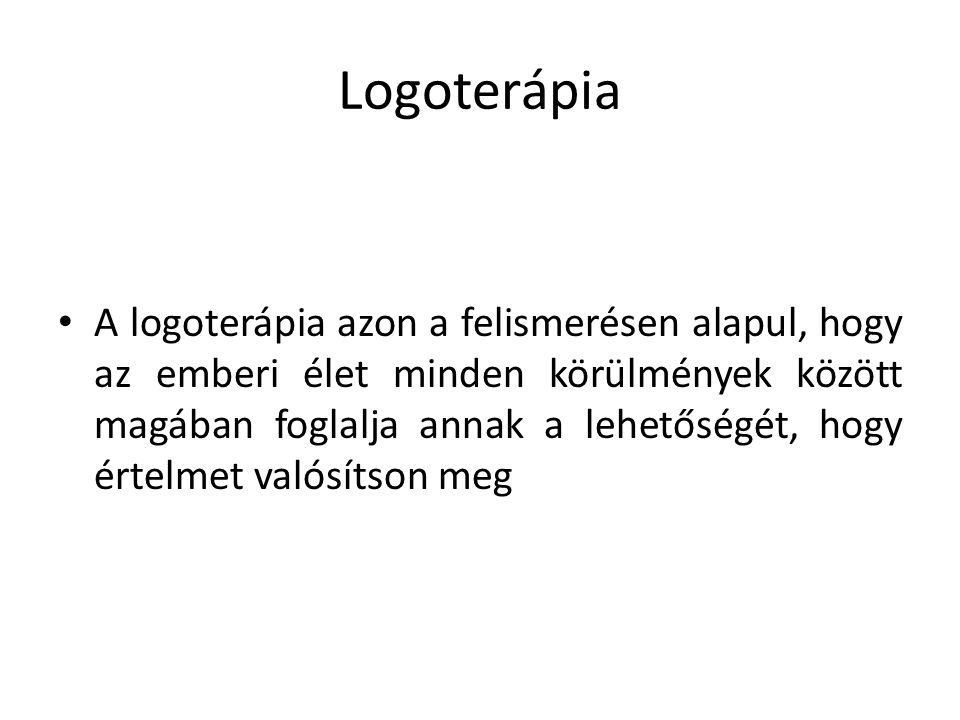 Logoterápia