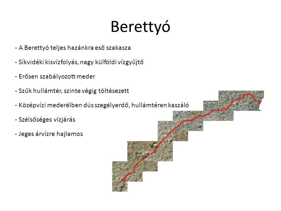 Berettyó - A Berettyó teljes hazánkra eső szakasza