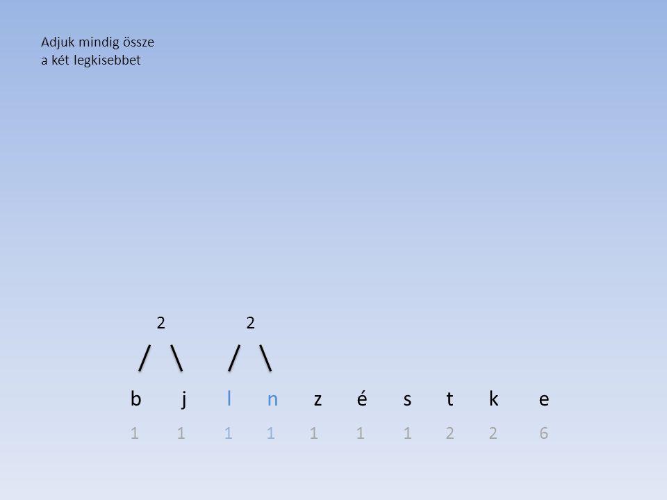 b j l n z é s t k e 2 2 1 1 1 1 1 1 1 2 2 6 Adjuk mindig össze