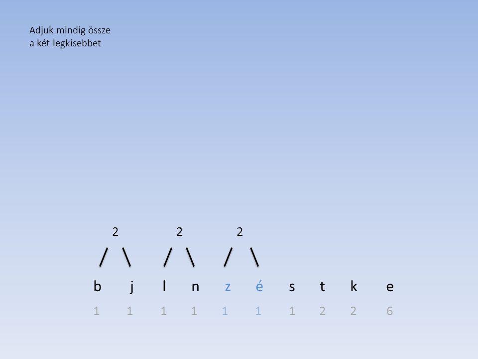 b j l n z é s t k e 2 2 2 1 1 1 1 1 1 1 2 2 6 Adjuk mindig össze