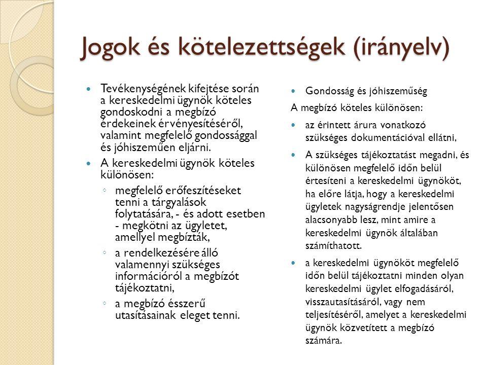 Jogok és kötelezettségek (irányelv)