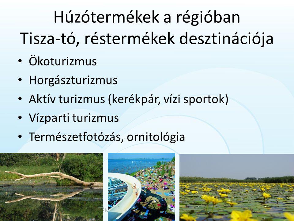 Húzótermékek a régióban Tisza-tó, réstermékek desztinációja