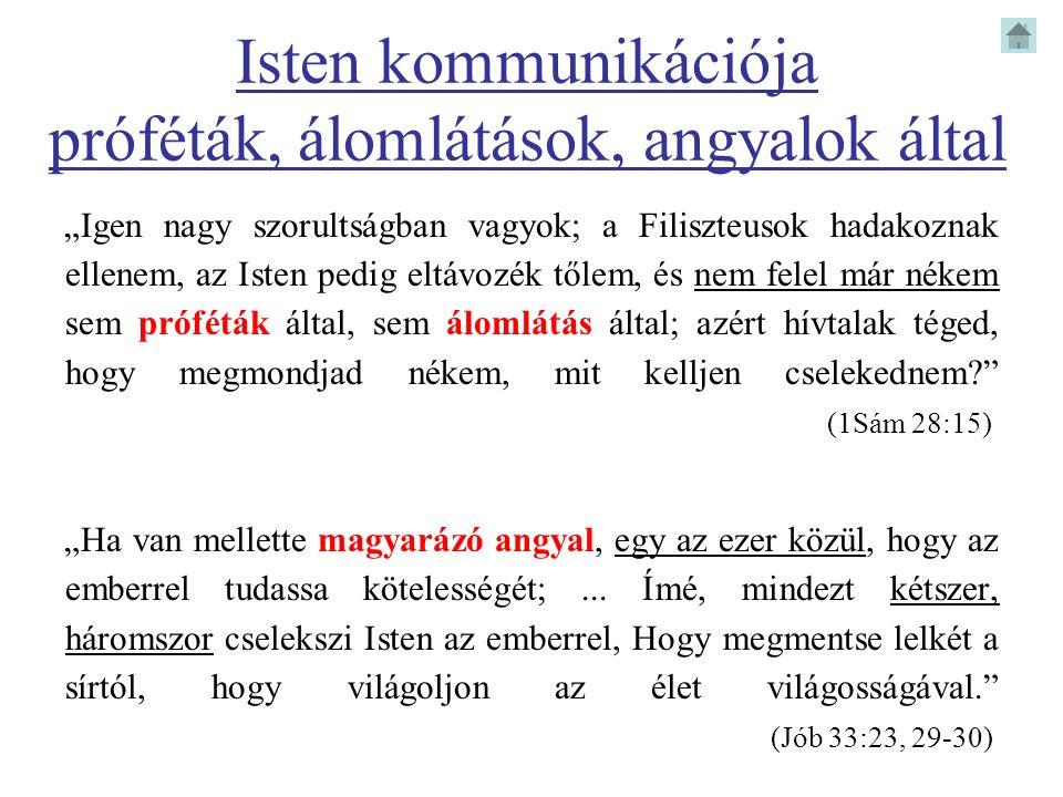 Isten kommunikációja próféták, álomlátások, angyalok által