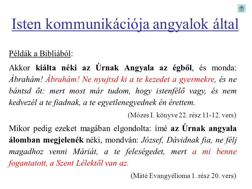 Isten kommunikációja angyalok által