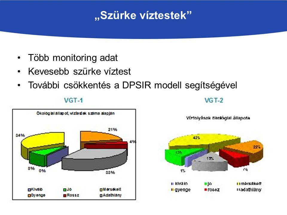 """""""Szürke víztestek Több monitoring adat Kevesebb szürke víztest"""