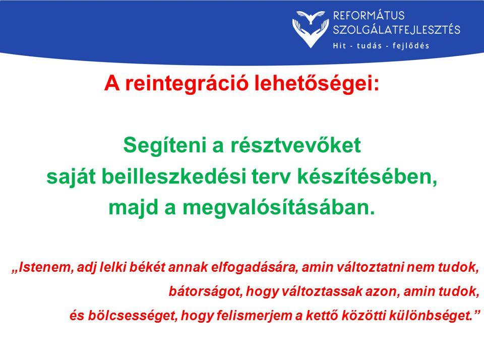 A reintegráció lehetőségei: Segíteni a résztvevőket