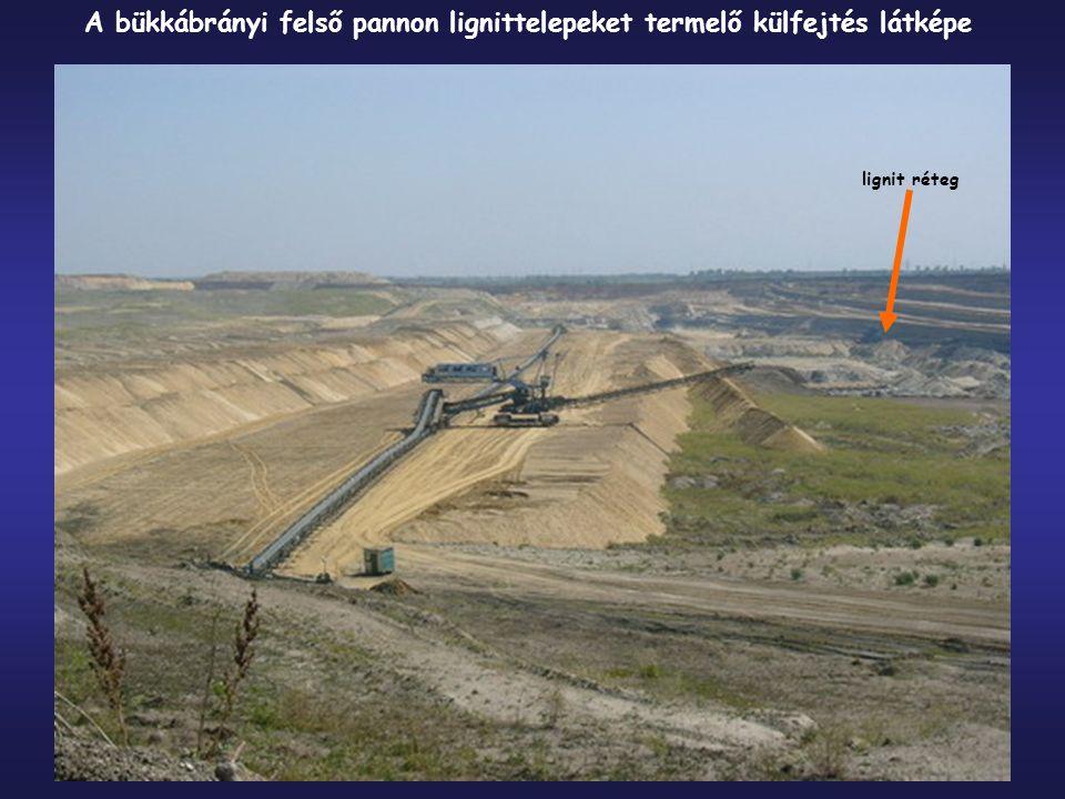 A bükkábrányi felső pannon lignittelepeket termelő külfejtés látképe