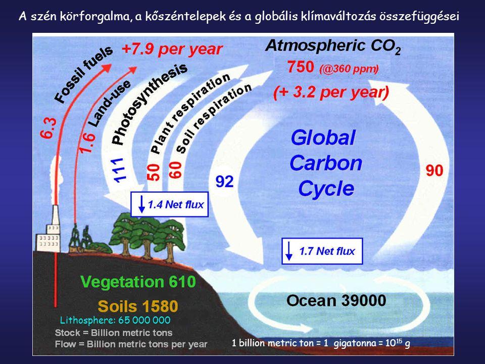 A szén körforgalma, a kőszéntelepek és a globális klímaváltozás összefüggései