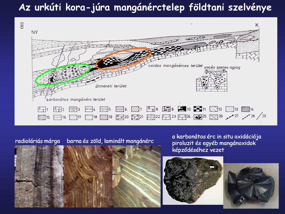 Az urkúti kora-júra mangánérctelep földtani szelvénye