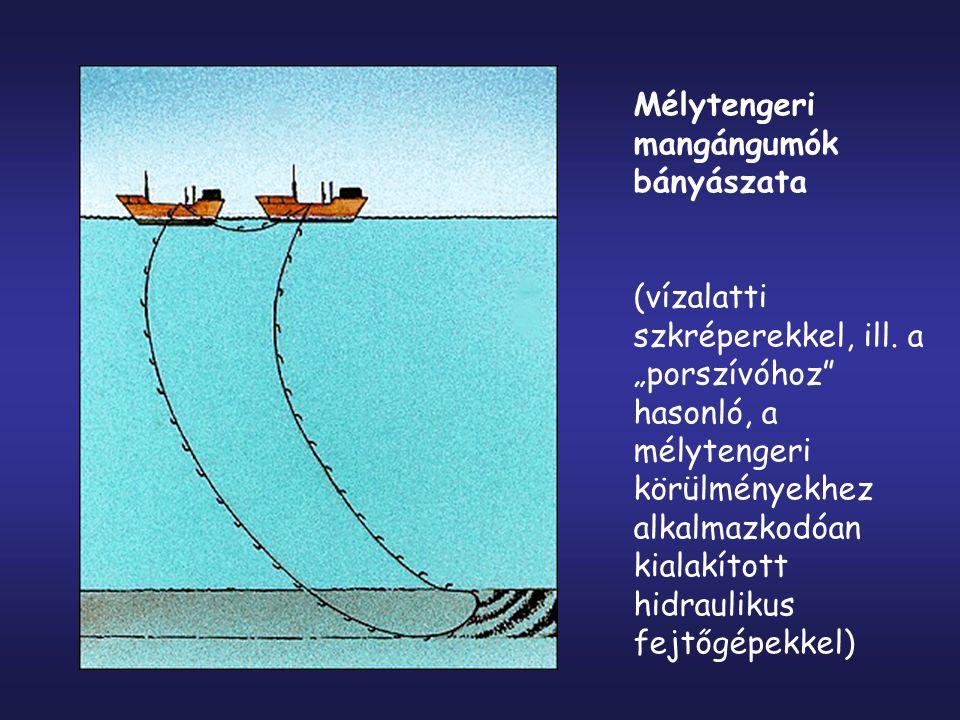 Mélytengeri mangángumók bányászata