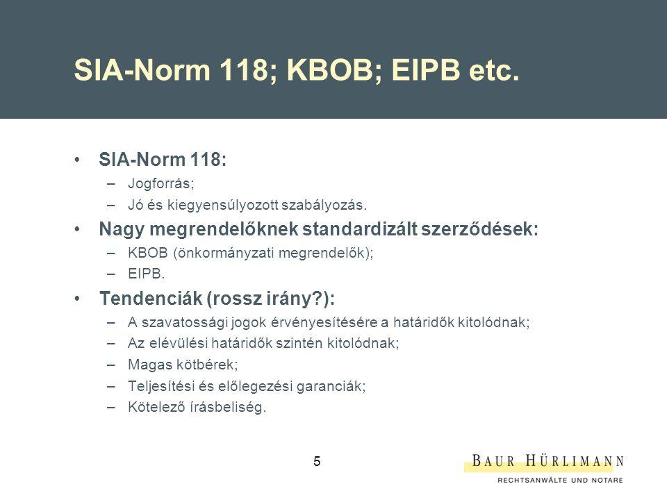 SIA-Norm 118; KBOB; EIPB etc.