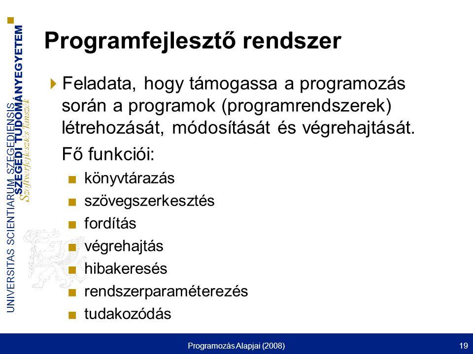 Programfejlesztő rendszer