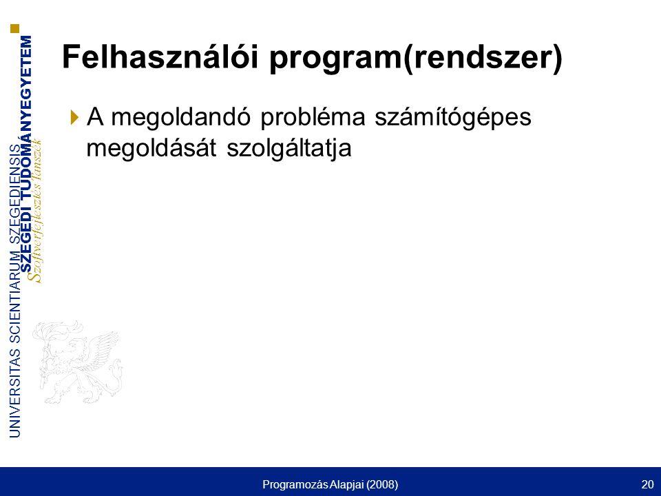 Felhasználói program(rendszer)
