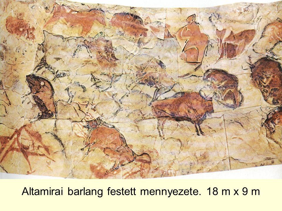 Altamirai barlang festett mennyezete. 18 m x 9 m
