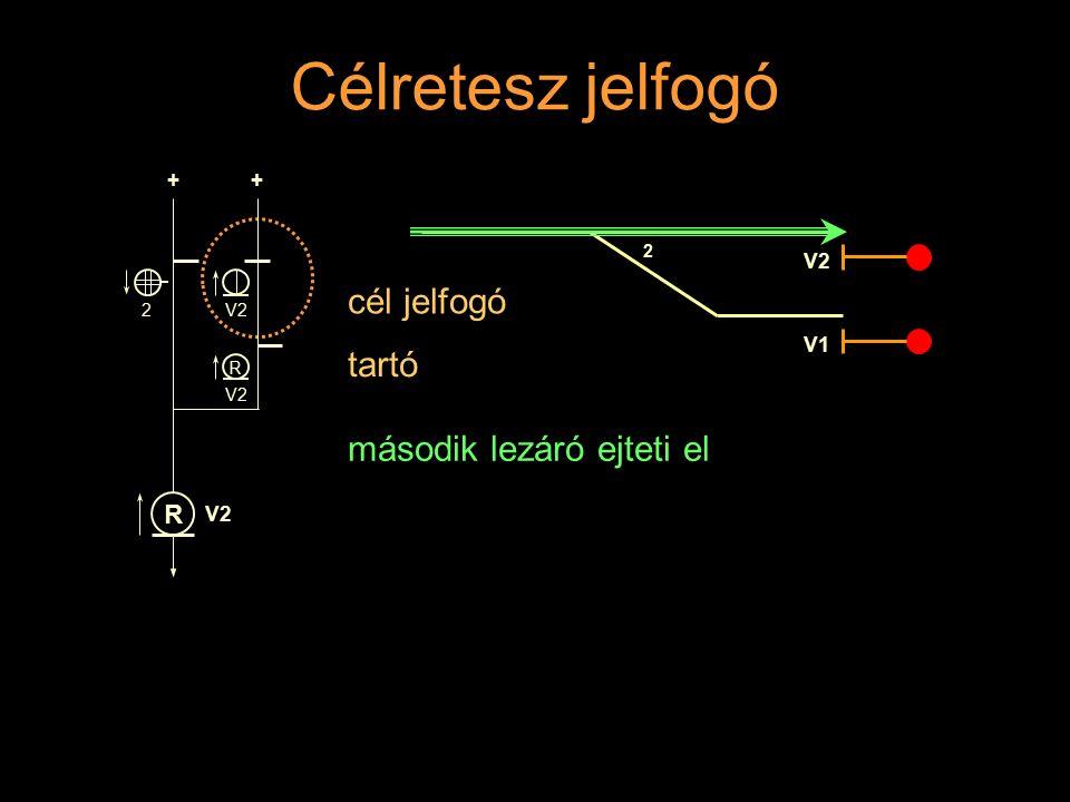 Célretesz jelfogó cél jelfogó tartó második lezáró ejteti el + V2 V1