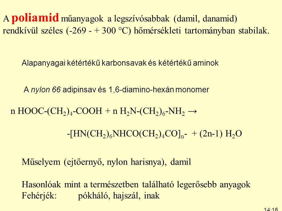 A poliamid műanyagok a legszívósabbak (damil, danamid)