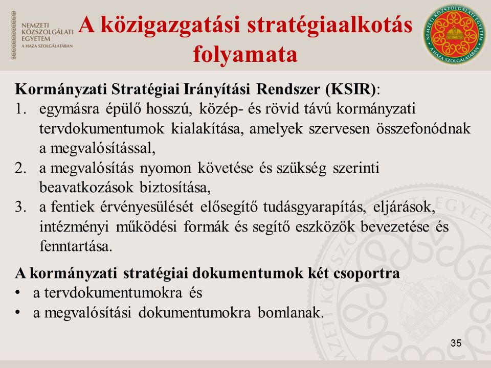 A közigazgatási stratégiaalkotás