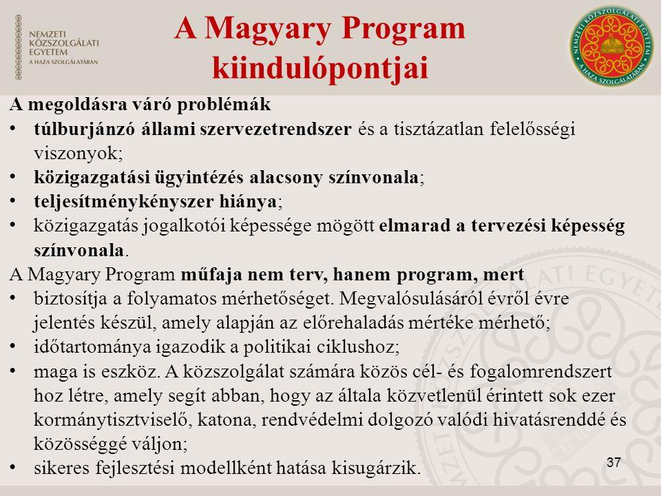 A Magyary Program kiindulópontjai
