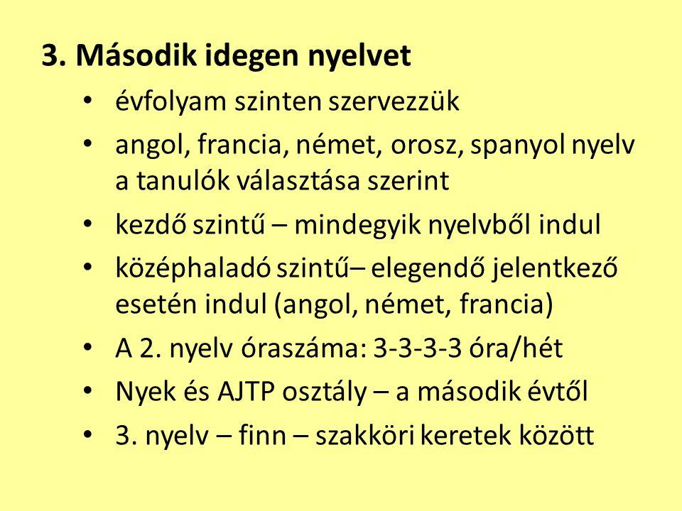 3. Második idegen nyelvet