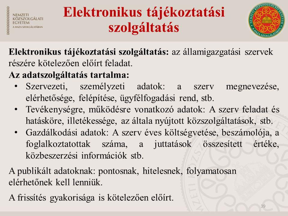 Elektronikus tájékoztatási szolgáltatás