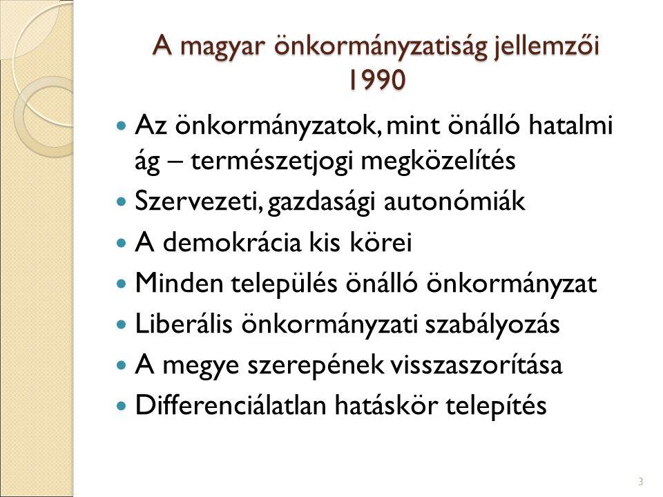 A magyar önkormányzatiság jellemzői 1990