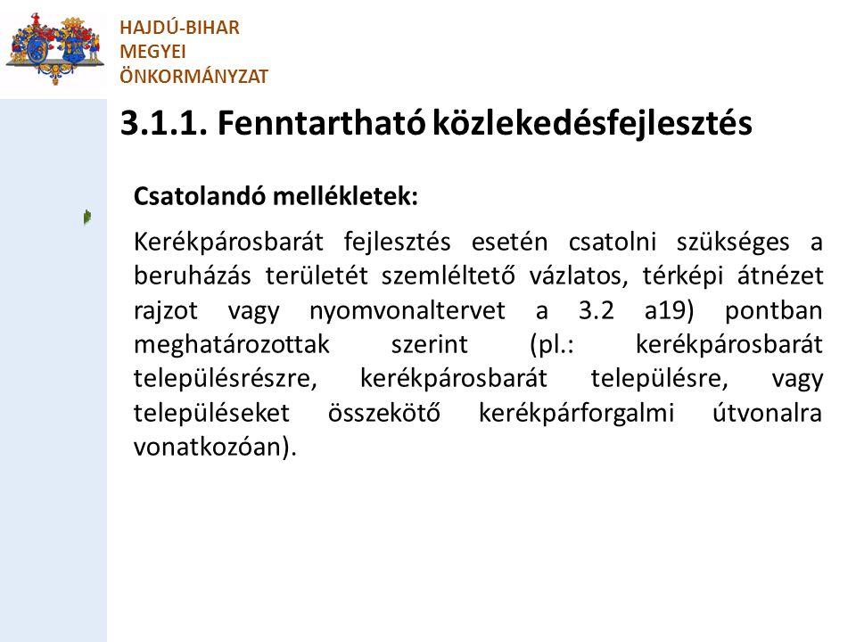 3.1.1. Fenntartható közlekedésfejlesztés