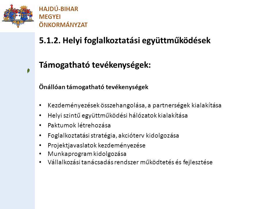 5.1.2. Helyi foglalkoztatási együttműködések