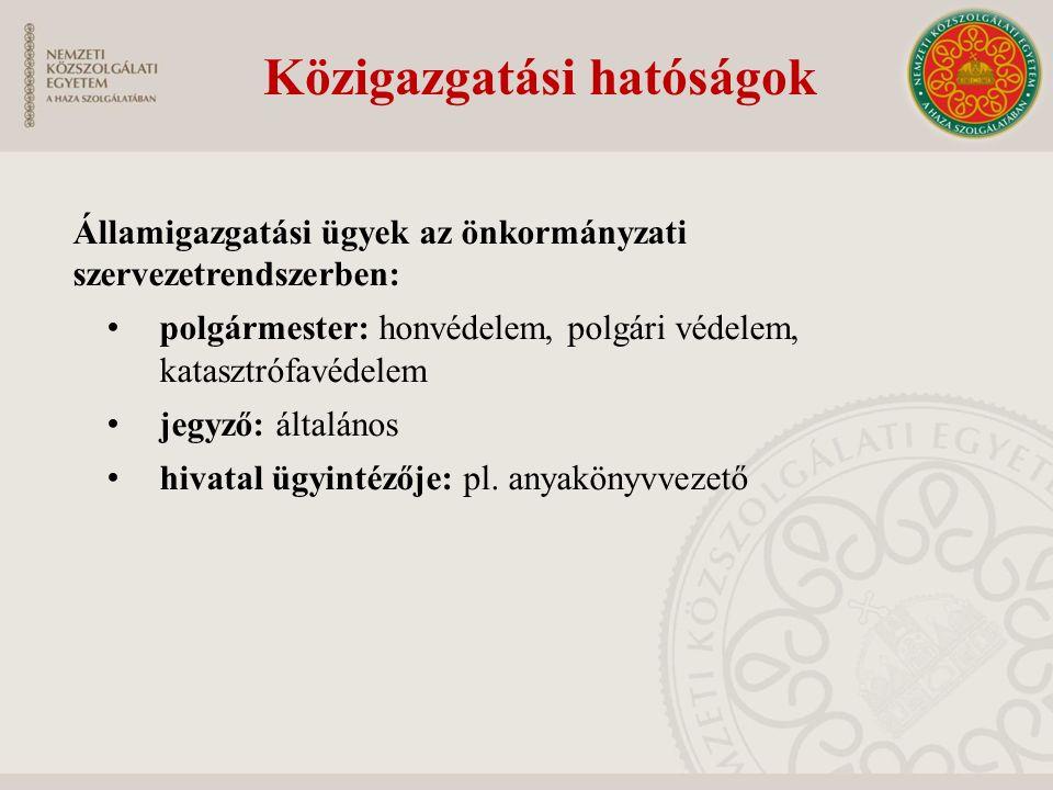 Közigazgatási hatóságok