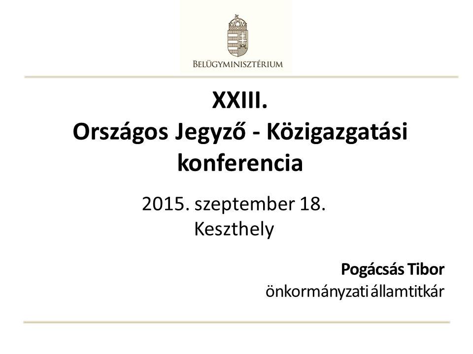 XXIII. Országos Jegyző - Közigazgatási konferencia