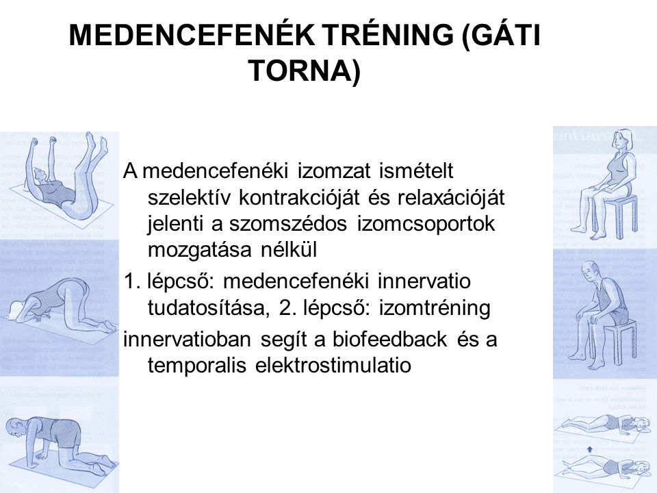 Medencefenék tréning (gáti torna)