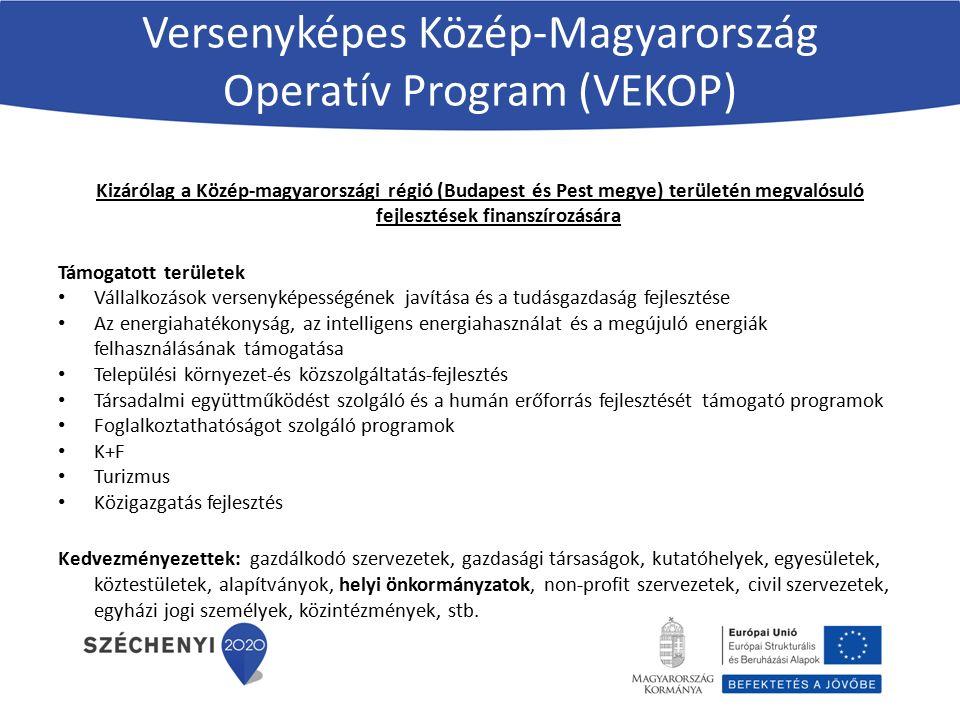 Versenyképes Közép-Magyarország Operatív Program (VEKOP)