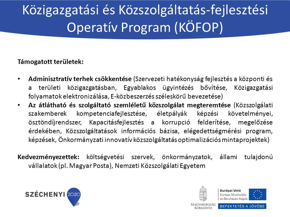 Közigazgatási és Közszolgáltatás-fejlesztési Operatív Program (KÖFOP)