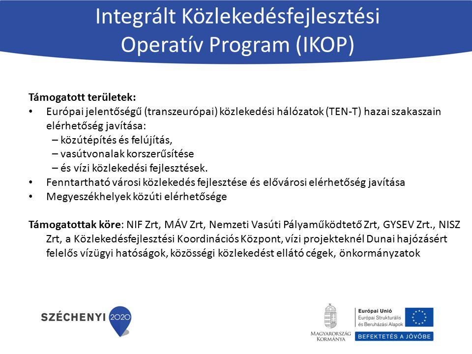Integrált Közlekedésfejlesztési Operatív Program (IKOP)