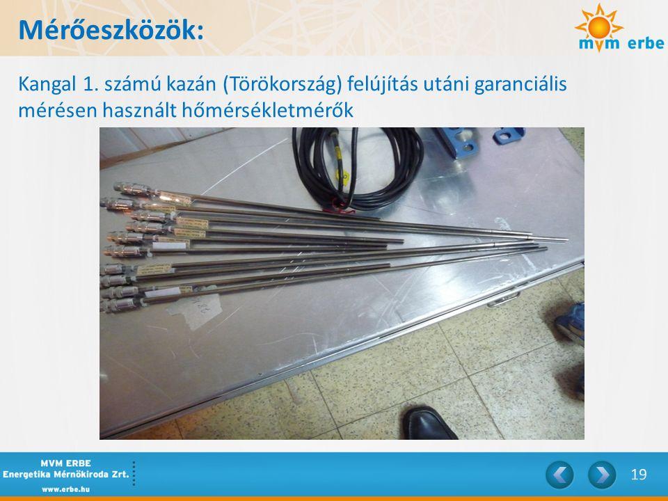 Mérőeszközök: Kangal 1.